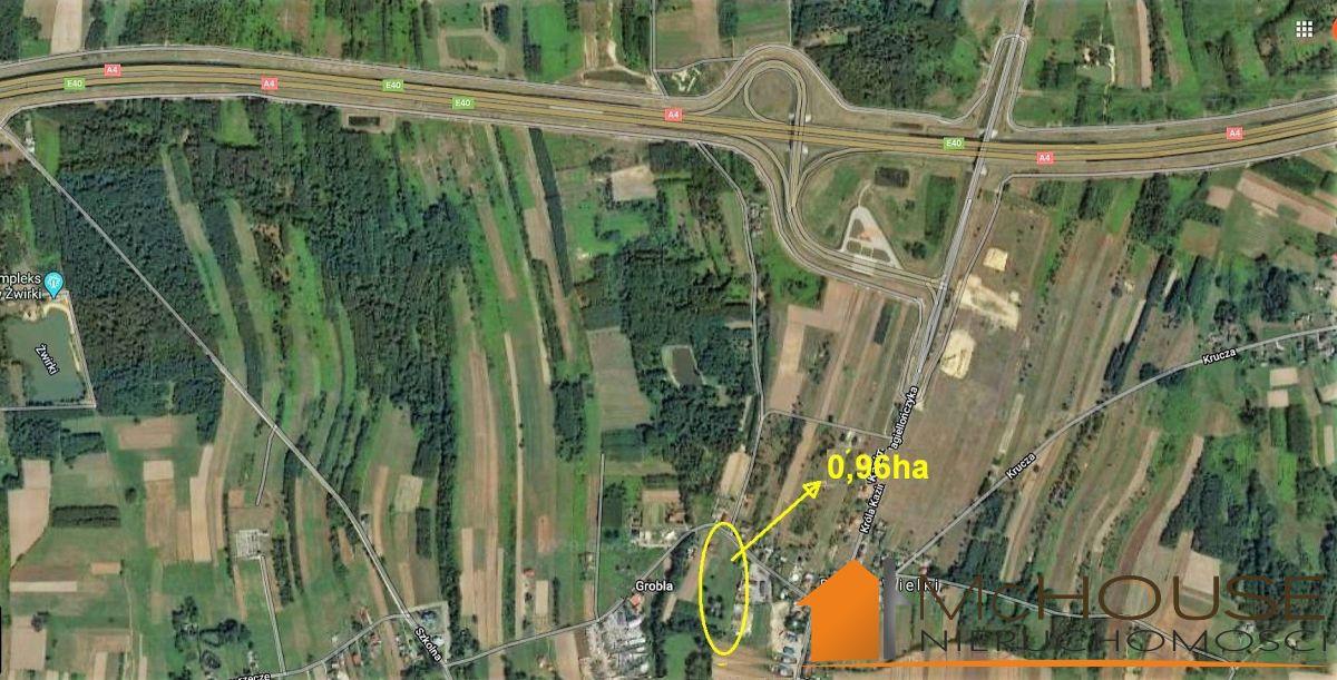 Sędziszów Młp. – 96 ar działka, 900m od wjazdu na A4